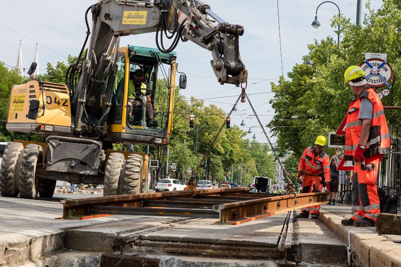 Gleisbau der Wiener Linien