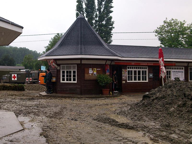 Hochwasser 2013 Kritzendorf Klosterneuburg Schlamm