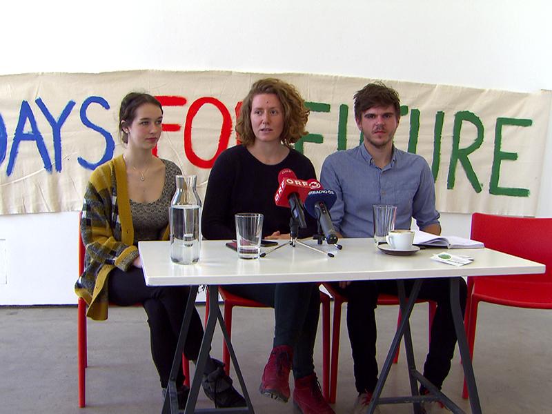 Pressekonferenz zur Klima-Demo