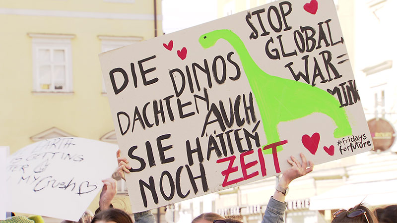 Demo Klimaschutz Greta Thunberg KLagenfurt