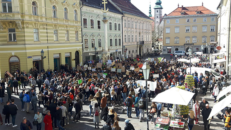 Klima demo Fridaysforfuture Klagenfurt