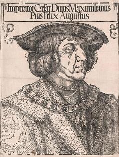 Holzschnitt von Albrecht Dürer anlässlich des Todes Maximilians 1519