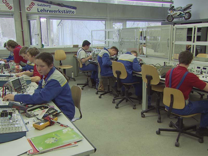 Lehrlinge bei den ÖBB