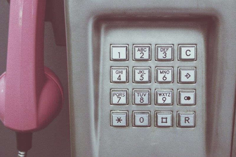 Telefonzelle, Wählfeld