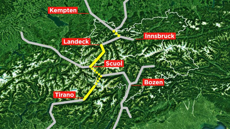 Bahnverbindungen Fernpass Reschenpass