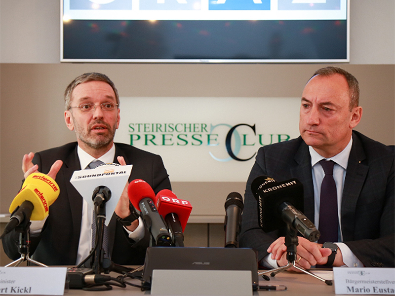 Innenminister Herbert Kickl und Vizebürgermeister Mario Eustacchio