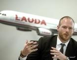 Laudamotion-CEO Andreas Gruber während einer Pressekonferenz