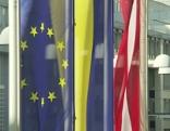 Landtag Brexit Fahne Landhaus St. Pölten