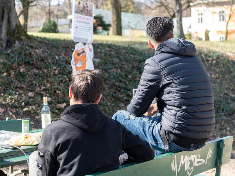 Bergschlössel-Park Froschberg Randgruppen