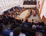 Teilnehmer beim ersten Bürgermeister-Dialog
