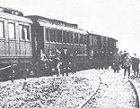 Bahnhof Kopfstetten Abfahrt Kaiser Karl Familie 23 März 1919