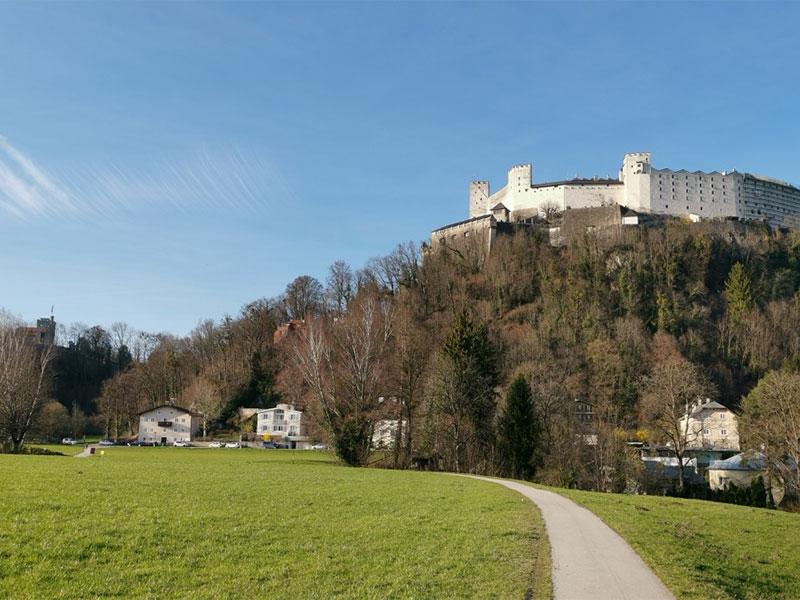 Krauthügel mit Blick auf die Festung Hohensalzburg