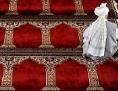 Betender beim Freitagsgebet in der Moschee beim Hubertusdamm in Wien-Floridsdorf