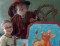 Umjetnik Art-Uro s dicom osnovne škole Nove Gore