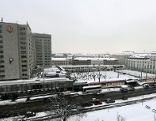 Der Wiener Eislaufverein zwischen Hotel Intercont und Konzerthaus am Heumarkt