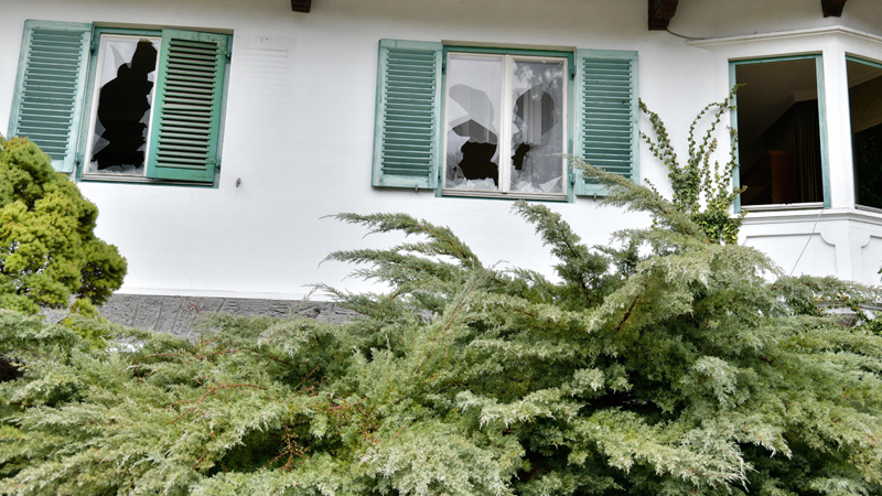 Zerstörtes Haus Wattens