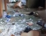 Zerstörtes Haus in Wattens