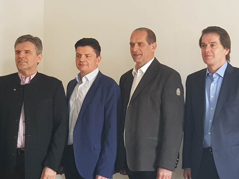 Bürgermeister Zefferer, Raninger, Gugganig, Moser