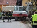 Gasleitung durch Bagger zerstört