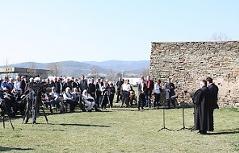 Gedenkfeier für die Opfer beim Bau des Südostwalls im südburgenländischen Rechnitz während der Endphase der NS-Herrschaft.
