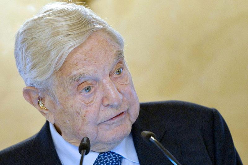 George Soros bei einer Rede in Wien
