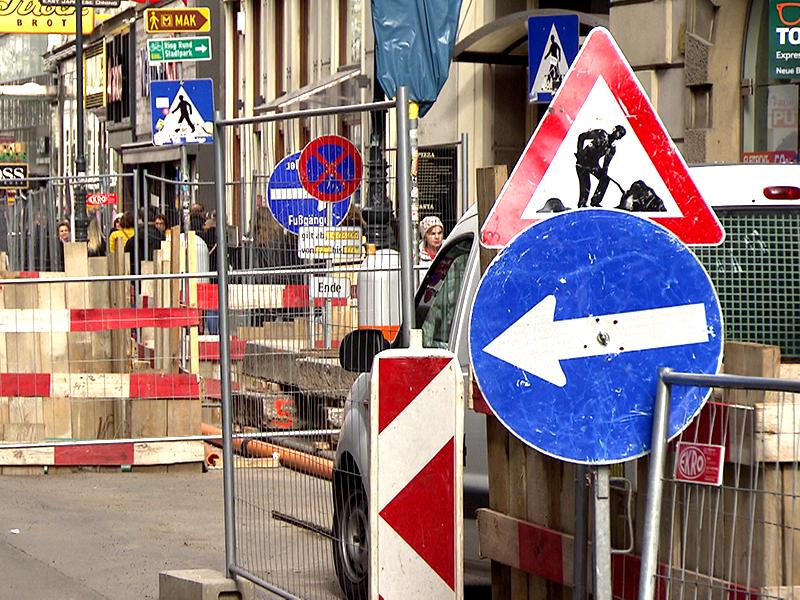 Baustelle auf der Rotenturmstraße