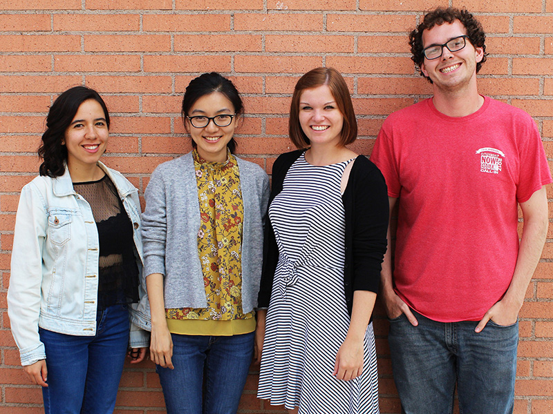 "Das ""Tint Journal""-Team mit Valeria García Origel, Rongqian Ma, Lisa Schantl und Kenneth Guay"