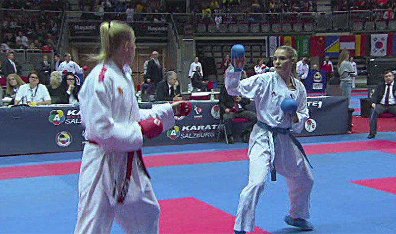 Karate Turnier in der Salzburg Arena, Alisa Buchinger