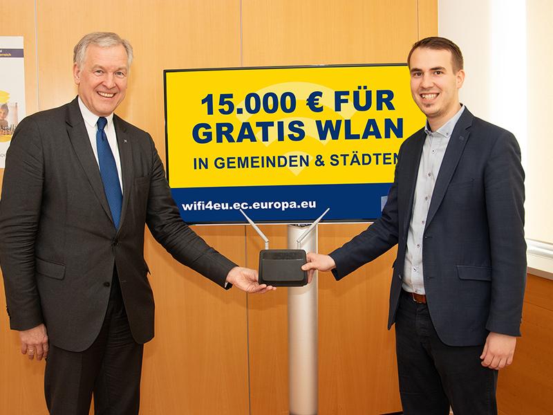 03.04.19 EU-Förderung Kostenloses W-Lan für Gemeinden