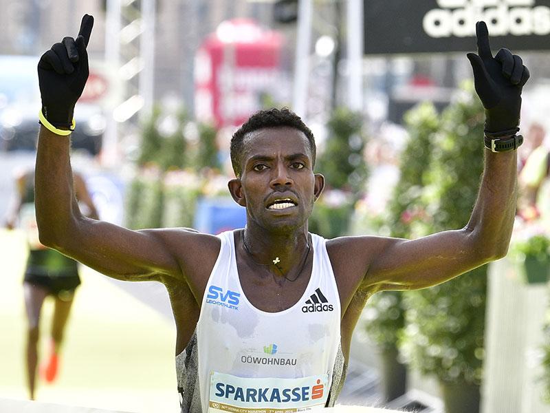 Lemework Ketema beim Vienna City Marathon