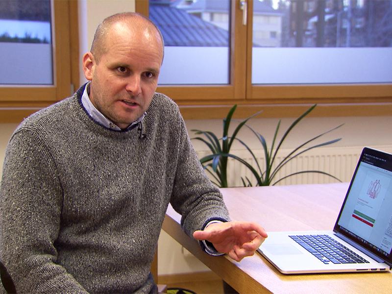 Martin Strele, Projektleiter der 100-Punkte-App