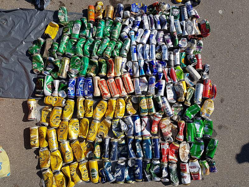 Aludosen Plogging joggen Müll