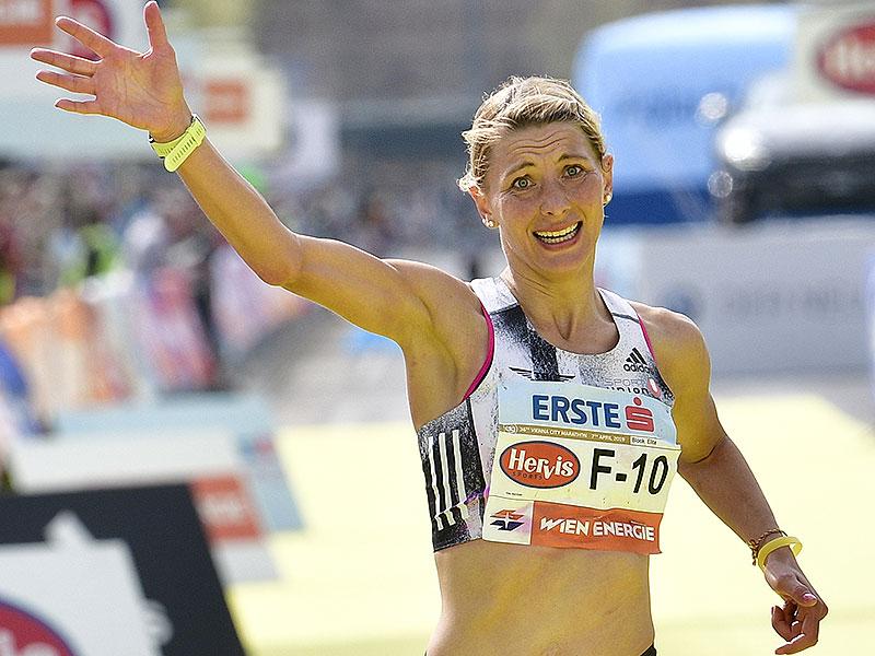 Eva Wutti beim Vienna City Marathon 2019