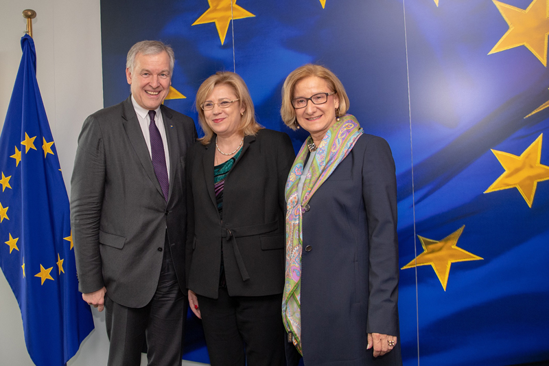 Mikl-Leitner in Brüssel Regionalförderung Eichtinger Cretu