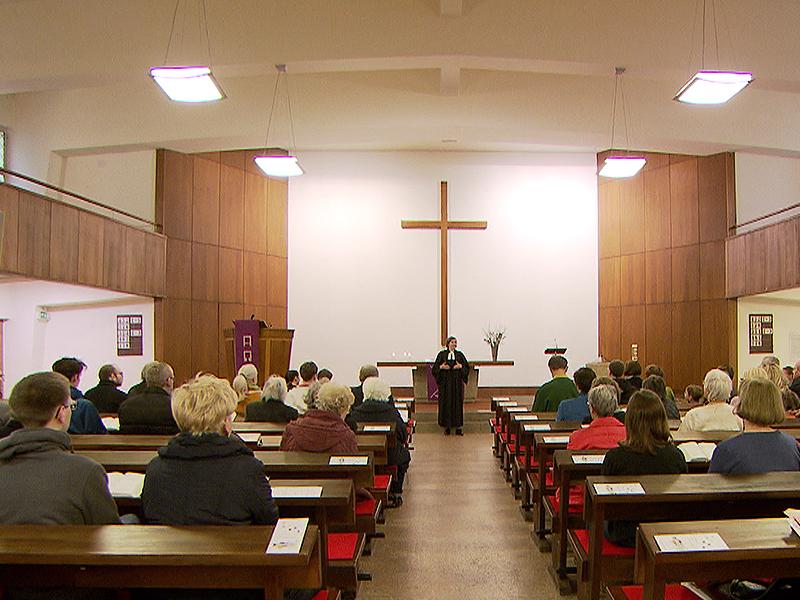 Gottesdienst in evangelischer Kirche