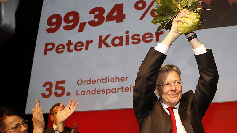 Peter Kaiser Wiederwahl Parteiobmann SPÖ