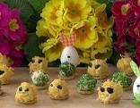 Käsebällchen-Küken für den Ostersonntag