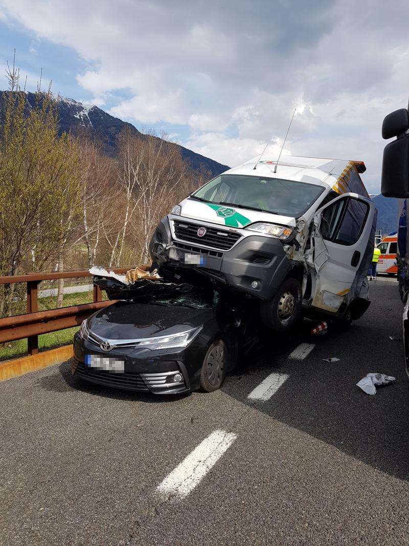 Massenunfall Brennerautobahn