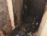 Ausgebrannter Aufzug in Wohnhaus