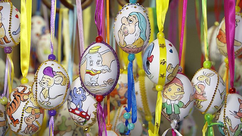 Osterkunstwerke Kunsthandwerk Eier Hasen