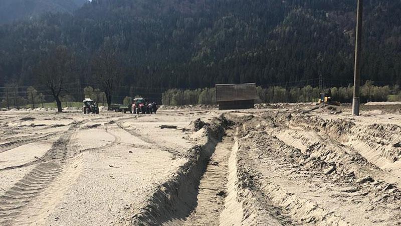 Schlamm Gailtal Hochwasser