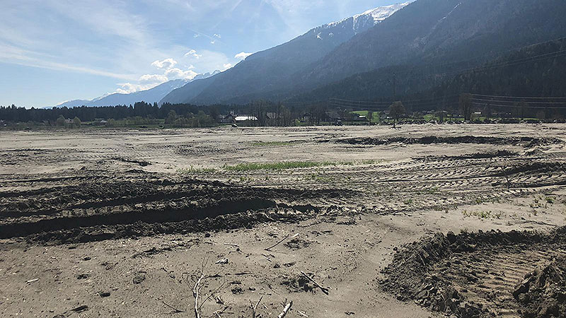 Schlammwüste Gailtal Hochwasser