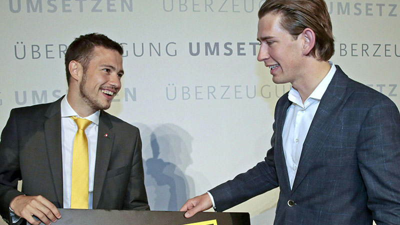 Sebastian Schuschnig mit Kanzler Sebastian Kurz