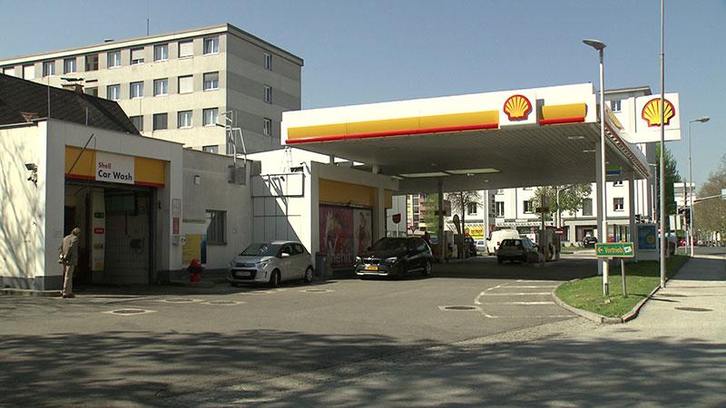Tankstelle Shell Viktringerring Klagenfurt außen
