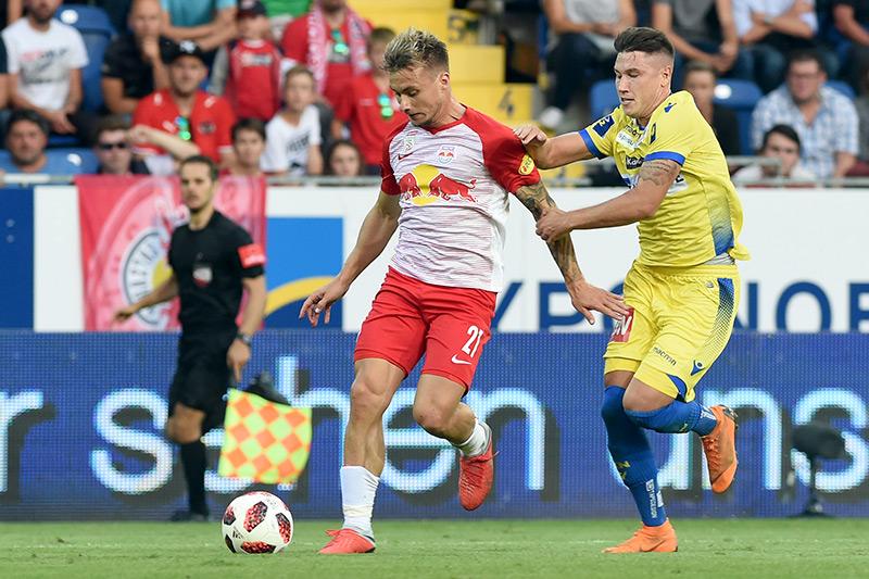 Bundesligaspiel zwischen SKN Sankt Pölten und Red Bull Salzburg im September 2018