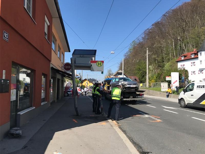 Unfall in der Stadt Salzburg