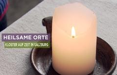 Heilsame Orte - Titel mit Kerze
