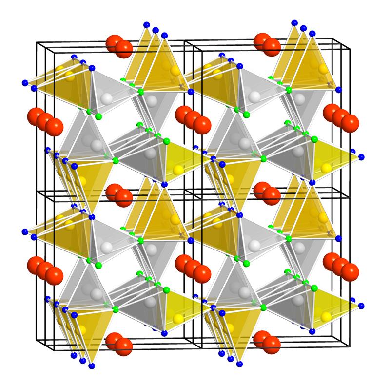 Kristallstruktur roter LED Leuchtstoff