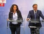 LH Günther Platter und LH-Stv. Ingrid Felipe