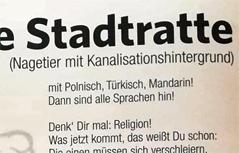 Stadtratte - Gedicht der FPÖ Braunau